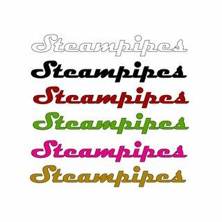 Steampipes Schriftzug-Aufkleber Groß