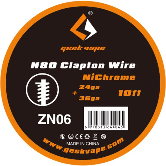 Geekvape - Ni80 Clapton Wire ZN06 10FT