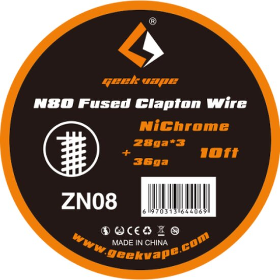 Geekvape - Ni80 Fused Clapton Wire ZN08 10FT