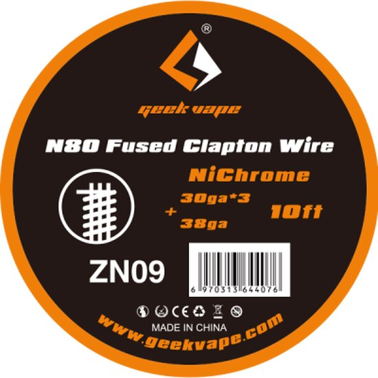 Geekvape - SS Fused Clapton Wire ZS08 10FT