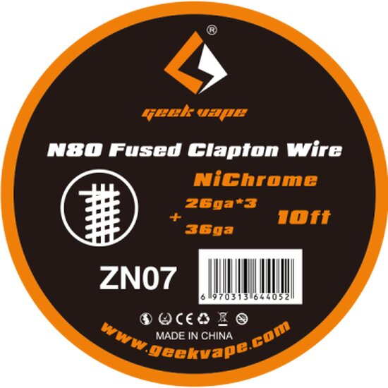 Geekvape - Ni80 Fused Clapton Wire ZN07 10FT